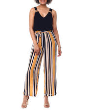 Womens-Holiday - Crinkle 2Fer Jumpsuit W/Elastic Wst-2490875