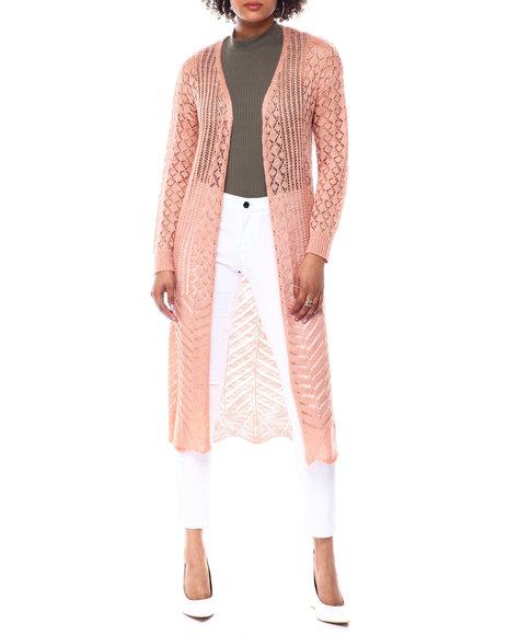 Fashion Lab - L/S Pointelle Duster