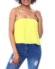 Fashion Tops - Crinkle Spaghetti Strap Top-2482840