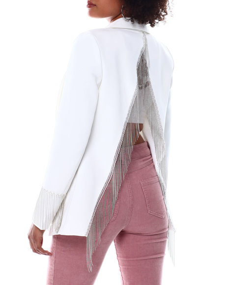 Fashion Lab - Open Back Chain Detail Blazer