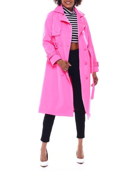 Azalea Wang - Faux Leather Trench Coat