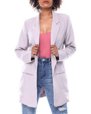 Fashion Lab - SLIT POCKET BOYFRIEND BLAZER-2488716