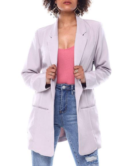 Fashion Lab - SLIT POCKET BOYFRIEND BLAZER