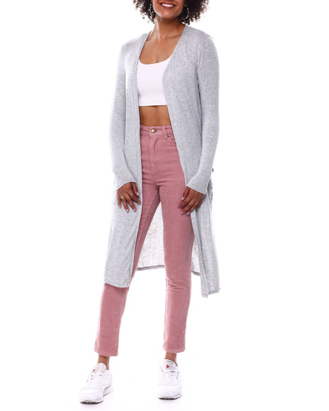 Fashion Lab - Open Front Duster Cardigan