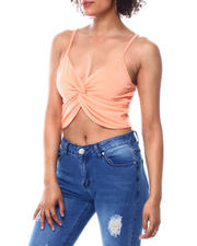 Spring-Summer-W - Spaghetti strap front criss cross knot top-2488607