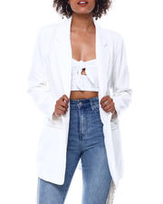 Fashion Lab - SLIT POCKET BOYFRIEND BLAZER-2488711
