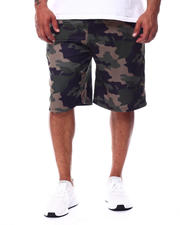 Buyers Picks - Camo Printed Colorblock Scuba Shorts (B&T)-2489371