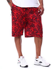 Buyers Picks - Rose Floral Printed Scuba Shorts (B&T)-2489329