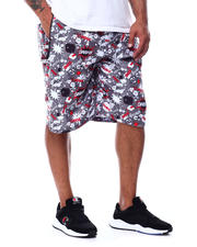 Buyers Picks - Comic Pop Art Printed Scuba Shorts (B&T)-2489334