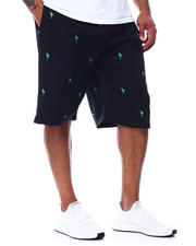 Buyers Picks - Flamingo Embroidered Knit Scuba Shorts (B&T)-2489349
