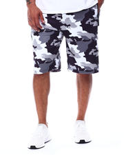 Buyers Picks - Camo Printed Colorblock Scuba Shorts (B&T)-2489366