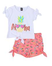 La Galleria - 2 Pc Aloha Tee & Printed Shorts Set (2T-4T)-2491985