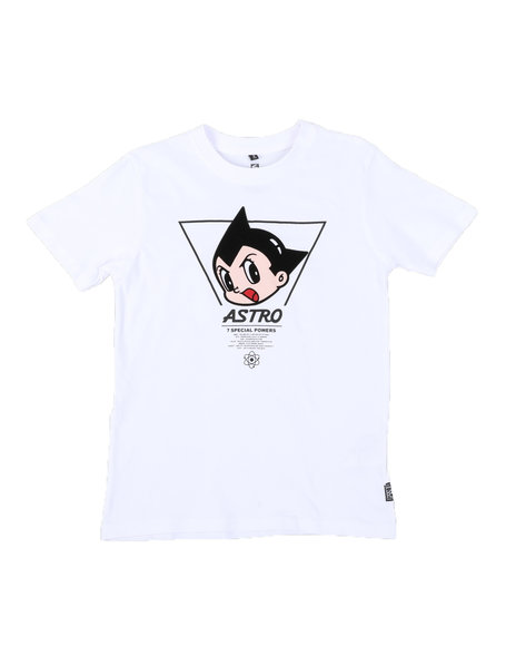 Southpole - Astro Boy Print Flocked Tee (8-20)
