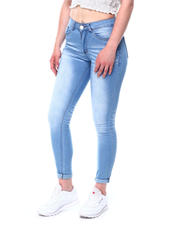 Jeans - Washed Stretch Roll Cuff Skinny Ankle Jean-2482580