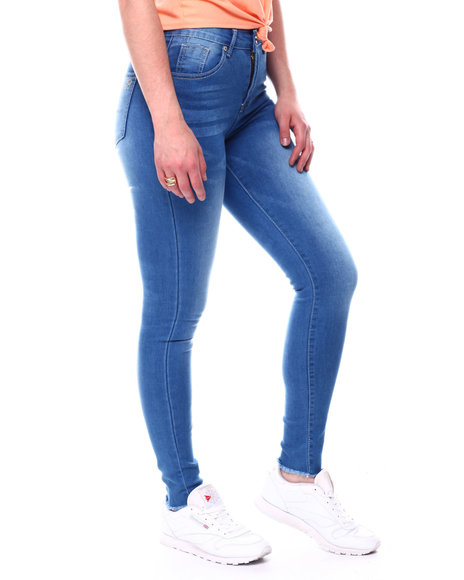 Fashion Lab - Stretch Raw Edge Skinny Jean