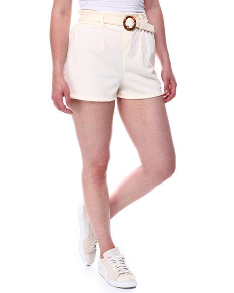Fashion Lab - Ruffle waistband belted detail shorts
