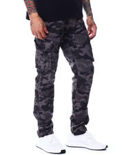 The Camper - Ripstop Grey Camo Cargo Pant w Belt-2492361