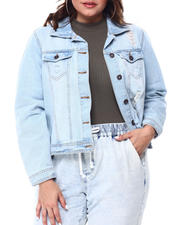 Outerwear - RIP & TEAR DENIM JACKET(Plus)-2469800
