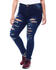 Jeans - DESTRUCTED HIGH WAIST JEAN(PLUS)-2469804