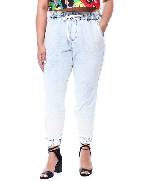 Fashion Lab - KNIT DENIM JOGGER ( PLUS)