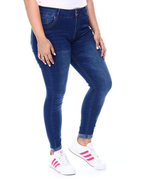 Fashion Lab - 2 Button Roll Cuff Skinny Jean(Plus)