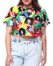 Plus Size - Collage Girls S/S Crop Top(Plus)-2488447