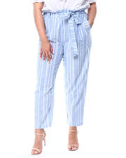 DEREK HEART - Stripe High Rise W/Side Seam Buttons (Plus)-2491033
