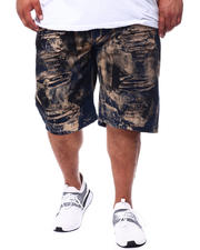 Shorts - Rip & Repair Bleached Shorts (B&T)-2476017