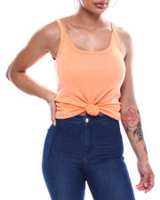 Tanks, Tubes & Camis - Solid Scoop Neck Tank Top-2492721