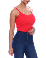 Tanks, Tubes & Camis - Spaghetti Strap Scoop Neck Tank Top-2492749