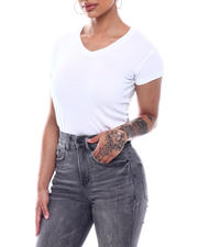 Fashion Lab - S/S V-Neck T-Shirt-2492075