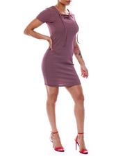 Fashion Lab - Stripe Lace Up S/S Dress-2492023