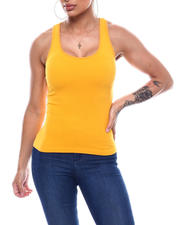 Tanks, Tubes & Camis - Ribbed Racer Back Tank-2492656