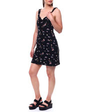 DEREK HEART - Ruffle Strap & Neck Trim Aline Dress-2492013