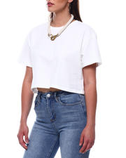Womens-Holiday - S/S Crew Neck Crop T-Shirt-2492705