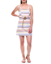DEREK HEART - Strappy Dress w/ Princess Panel & Rope Belt-2492789