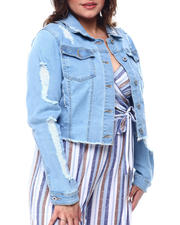 Red Fox - Denim Jacket w/Back Destruction(Plus)-2488463