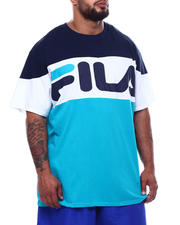 Fila - Horizontal Color Block S/S Tee (B&T)-2492985