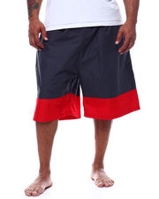 Swimwear - Color Block Swim Trunk Shorts With 2 Pockets (B&T)-2493437