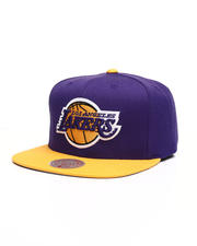 NBA, MLB, NFL Gear - Los Angeles Lakers Wool 2 Tone Snapback Hat-2493808