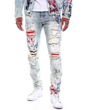 SMOKE RISE - Americana Distressed Slim Fit Jean-2493700