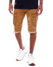 SMOKE RISE - Distressed Skinny Cargo Short-2493655