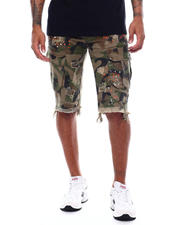 SMOKE RISE - Distressed Skinny Cargo Short-2493691