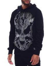 Industrial Indigo - Flame Skull Stone Hoody-2493756