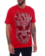 Industrial Indigo - Flame Skull Stone Tee-2493763