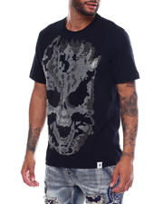 Industrial Indigo - Flame Skull Stone Tee-2493770