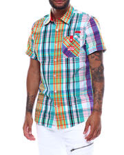 Parish - SS PLAID BUTTONDOWN SHIRT-2494388