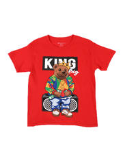 Boys - King Bear Print Tee (8-20)-2494608