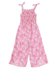 Overalls & Jumpers - Floral Printed Smocked Top Jumpsuit (4-6X)-2494618