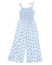 La Galleria - Floral Printed Smocked Top Jumpsuit (7-16)-2494630